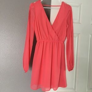 Pink Arden B Sheer backless dress size small